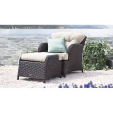 Jardim ao ar livre de vime mobiliário pátio cadeira do rattan