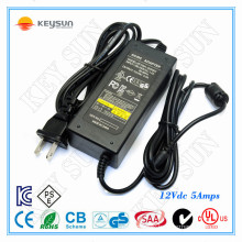 12V, 5A DC Unit Charger & 12V 5A Power Supply Charger Class2 UL1310