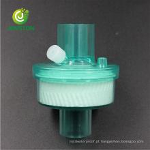 Filtro HME de trocador de calor e umidade médico