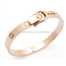 Gürtel Form Mode Armband Roségold vergoldeten Edelstahl Damen Herren Unisex Armband Armreif Schmuck Hersteller
