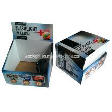 Impresión personalizada PDQ caja de embalaje de pantalla corrugado para linterna