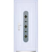 Porte en verre à entrée en acier (WX-LSG-299)