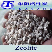 Huayang aluminosilicato mineral zeolita natural filtro de zeolita media