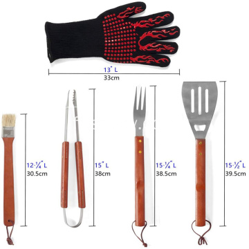 BBQ Grill Tool Set Outils en acier inoxydable
