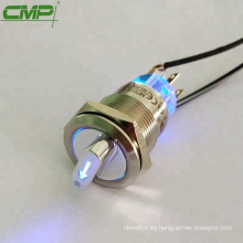 Interruptor giratorio selector de posición CMP antivandalismo metálico de 2 o 3 posiciones