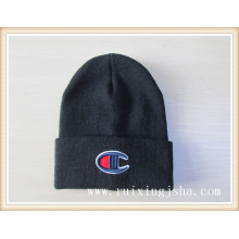 men's knitted embroidery hat