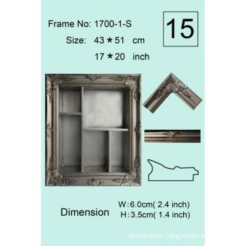 Antique Archaistic Wooden Shadow Box Frame Storage Box