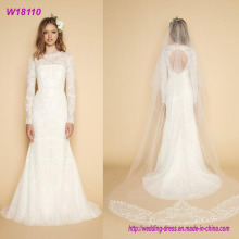 Women White Wedding Bridal Gown Dress Beaded OEM