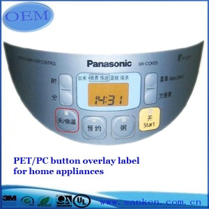 Rice Cooker Button Overlay Label