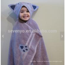 Purple Cat Kapuzenhandtuch, 100% Baumwolle, superweich und saugfähig