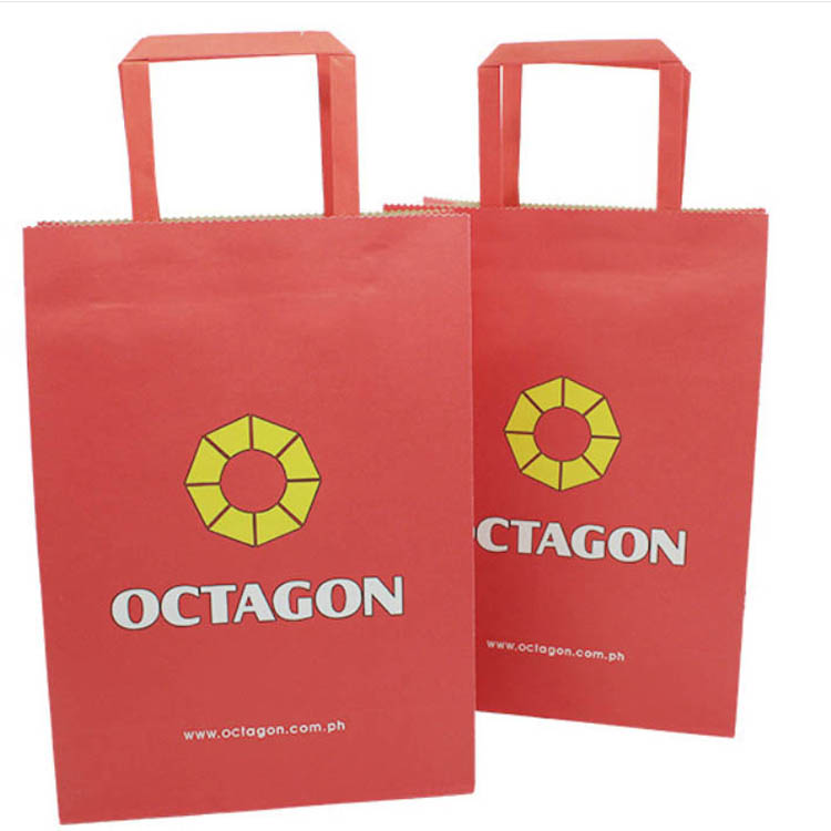 Hot Sell Kraft Paper Shopping Bags With Handles