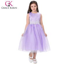 Grace Karin New Model Sleeveless Ankle-Length Tulle Flower Girl Princess Dress Girl Dress Birthday Party Dress CL008939-4
