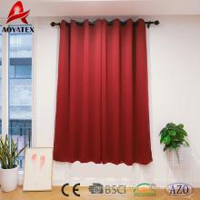 100% poliéster com isolamento térmico para casa e hotel cortina de janela de blecaute