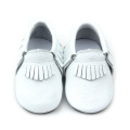High Quality Baby Shoes with White Moccasin Shoes