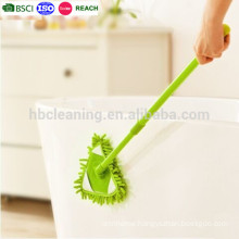telescopic handle green triangle chenille mop, microfiber mop, microfiber duster mop