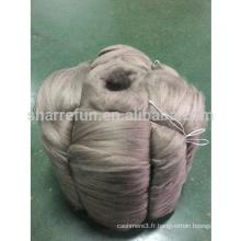 Usine en gros prix concurrentiel mongole Cachemire fiber tops brun 16.5mic / 44-46mm pour filature fil