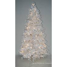 Arbol de Navidad artificial realista con la luz de la secuencia Decoración multi del color LED (AT2024)