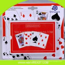 Cartões de jogo de plástico 100% novos baratos de alta qualidade baratos