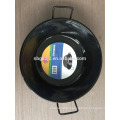 enamel deep fry pot/China wok/black wok with two handles
