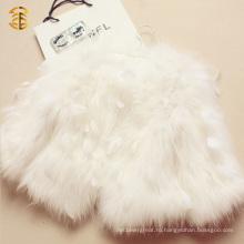 Лучшее качество Новое прибыло Стиль Перо мех дамы пальто для женщин