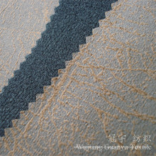 100% Polyester Bronzing Suede Leathe Cloth Fabric for Home