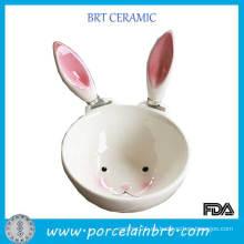 Tazón de fuente caliente de la forma del conejo del grado de la comida de la venta