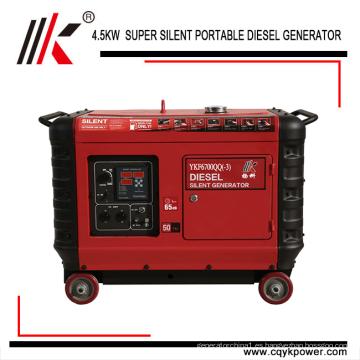 Generador diesel silencioso del motor portátil de 4.5kw 60hz a qatar con precio de fábrica