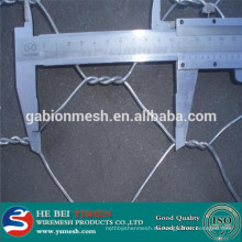 Galvanizado o pvc hexagonal revestido malla de alambre 10mm anping fábrica