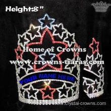 Red White Blue Star Crystal Crowns--4th Of July