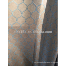 New arrival Reticulation design 250gsm thick Linen Like Jacquard 100% polyester Curtain fabric