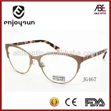 best brand lady promotional custom logo metal optical spectacles