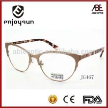 Лучший бренд леди рекламный пользовательский логотип металлический оптические очки