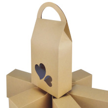 Recycled Coffee Brown Kraft Paper Bag with Handles