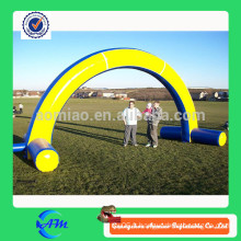 Porte gonflable bleu et jaune, porte publicitaire gonflable, arche gonflable