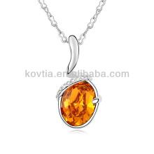 Élégant bijoux en platine grand collier cadeau en diamant en cristal 2015