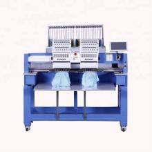 ELUCKY высокой скорости рекламы 12 цветов двух головка компьютеризировала машину вышивки