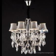 China Iluminación cristalina de la lámpara de la vela del hierro labrado