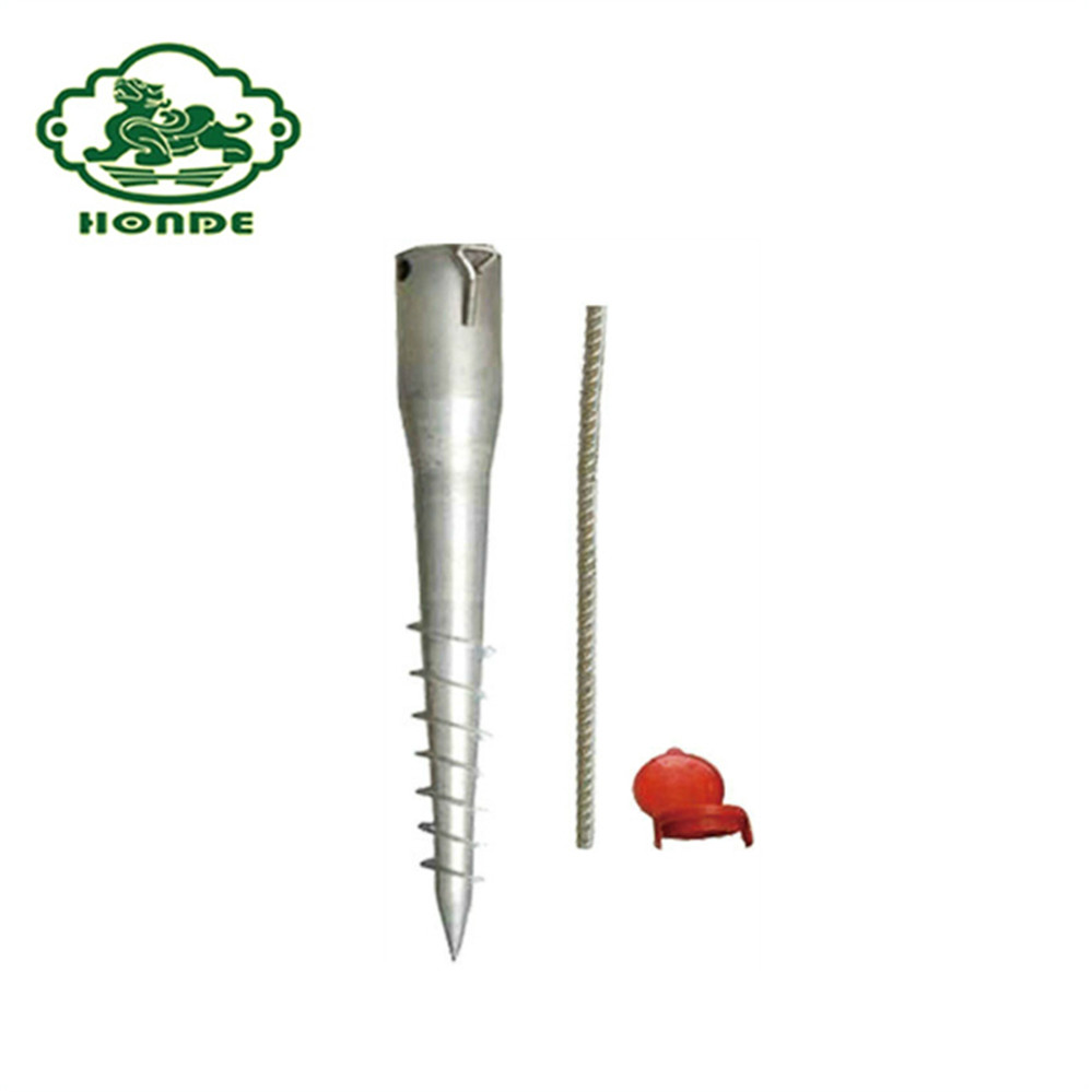 Adjustable Logam Helical Pile Post Anchor