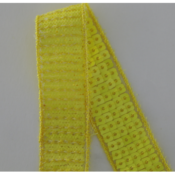 Warna Cantik Square Sequin Lace Ribbon Trim