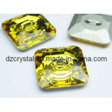 Square Glass Button for Garment Decoration (DZ-BUTTON-002)