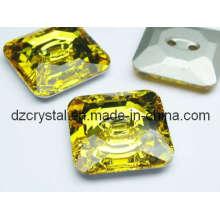 Кнопка квадратных стекла для декорирования одежды (DZ-кнопка-002)