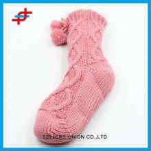 2016 winter warm wool socks of stripe pattern for young girls,quality and warm