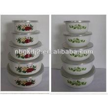 эмалированную посуду для хранения комплекта с крышкой PP 5шт эмалированную посуду для хранения комплекта с крышкой PP