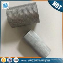 2 microns 300 um fritté 304 en acier inoxydable fil de maille filtre tube