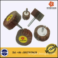 High quality abrasive flap wheel with shaft for grinding inner surface