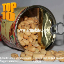 Canned salted and roasted peanuts snack food popular in the market