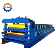 Dikendalikan Double Steel Rolling Tiles Cold Forming Machines