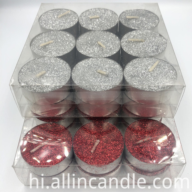 Glitter Tealight Candles
