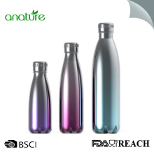 Botella de bebida de agua aislada metálica Turquesa