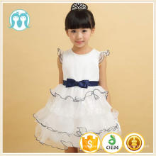 summer bow belt children frocks designs bule lace angel kids clothes girl dress